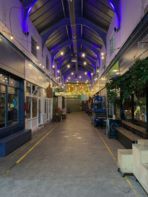 Fineline Lighting installation at Brixton Market 2020